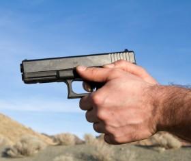 Pistol shoot Stock Photo