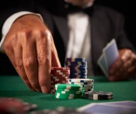 Playing poker chips Stock Photo