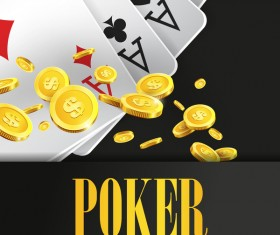 Poker creative background vector