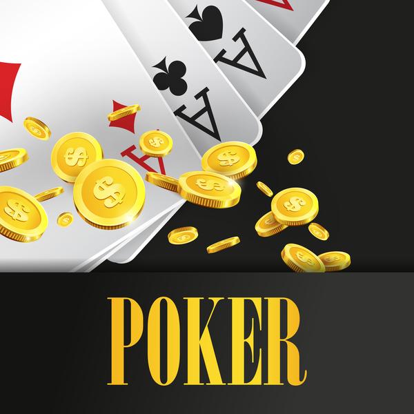 Poker creative background vector