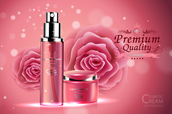 Premium quality cosmetic ream poster vectors 01