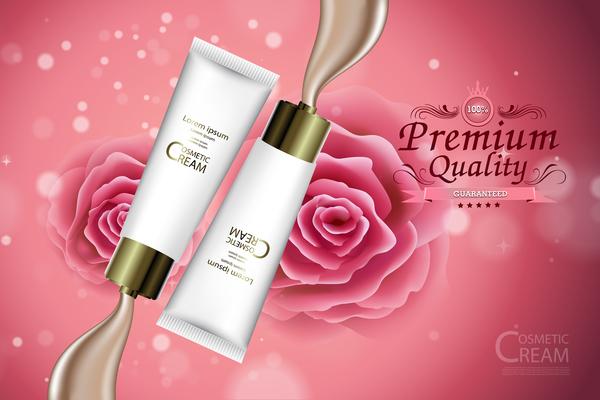 Premium quality cosmetic ream poster vectors 02