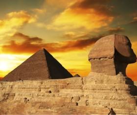 Pyramid of Egyptian Sphinx Stock Photo 01