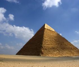 Pyramid of Egyptian Sphinx Stock Photo 02