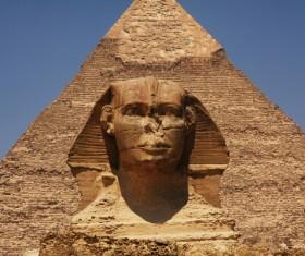 Pyramid of Egyptian Sphinx Stock Photo 03