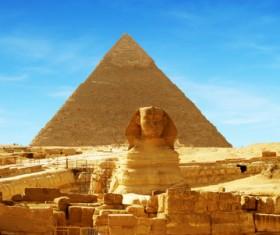 Pyramid of Egyptian Sphinx Stock Photo 04