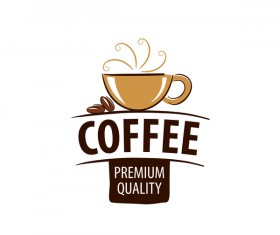 Quality coffee logos vector material