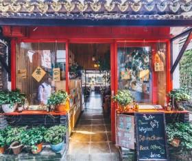 Quiet retro cafe HD picture