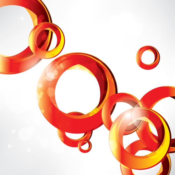 Red circles with white background vector 02