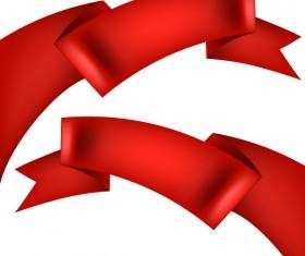 Red ribbon illustration vector