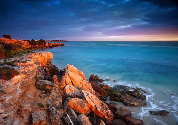 Reef on the beach Stock Photo