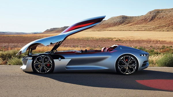 Renault Trezor Electric Concept Sports Car Hd Picture Free Download