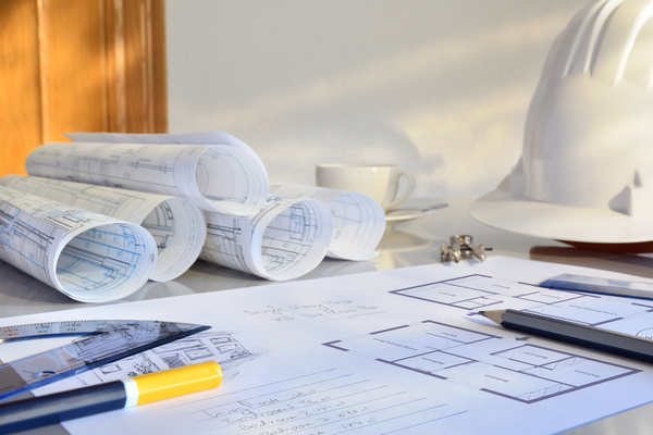 Residential drawings Stock Photo
