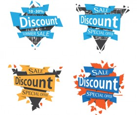Sale discount labels creative vector