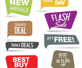 Sale elements with speech bubbles vector