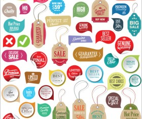 Sale stickers tags and labels set vector
