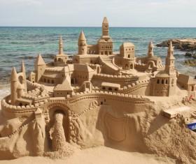 Sand on the beach castle Stock Photo