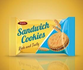 Sandwich cookies poster vector template