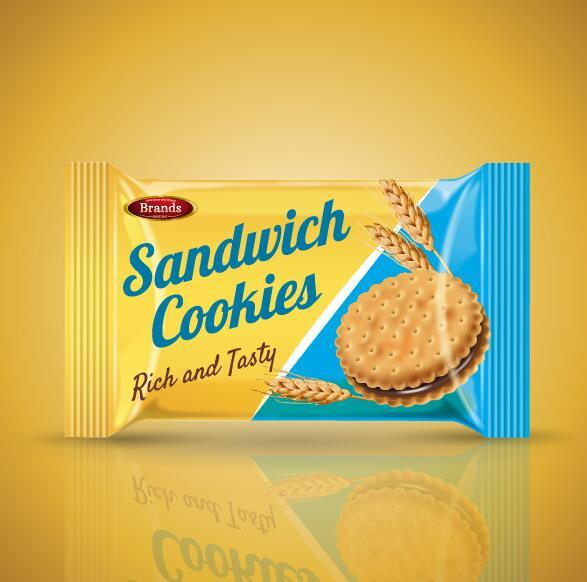 Sandwich cookies poster vector template