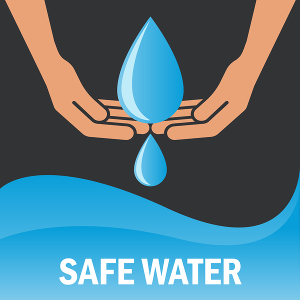 Save Water Poster Template Vectors Material 02 Vector