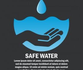 Save water poster template vectors material 04