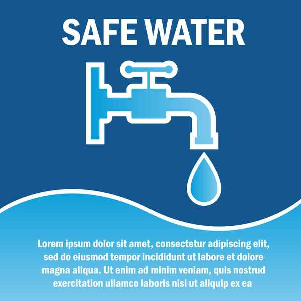 Save water poster template vectors material 05