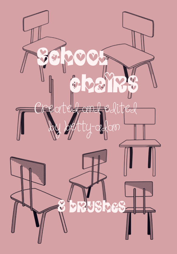 School Chairs Photoshop Brushes