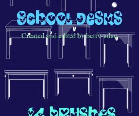 School Desks Photoshop Brushes