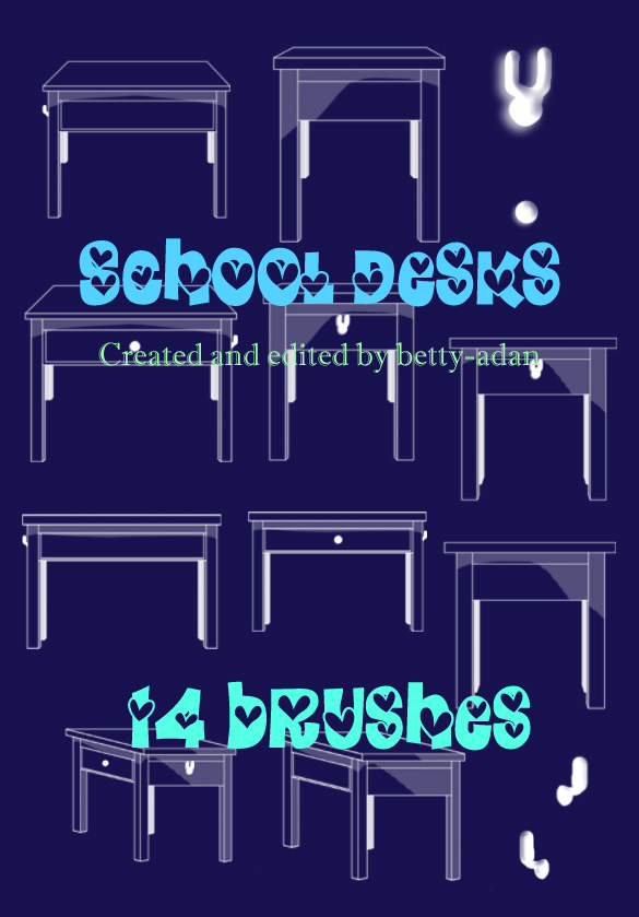 School Desks Photoshop Brushes
