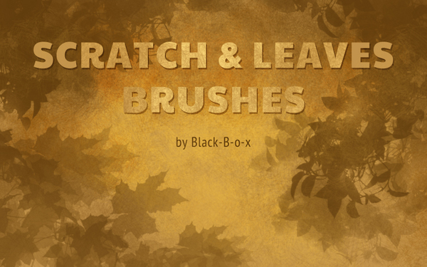 Scratch and Leaves Photoshop Brushes