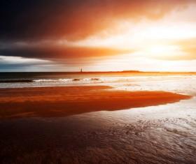Seaside beach beautiful sunrise HD picture