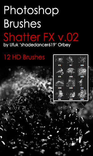 Shatter HD Photoshop Brushes