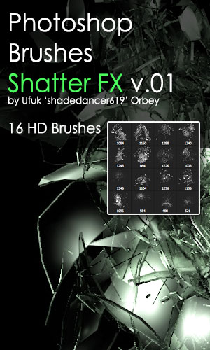 Shatter Photoshop Brushes