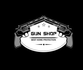 Shooting clijb logo design vector 01