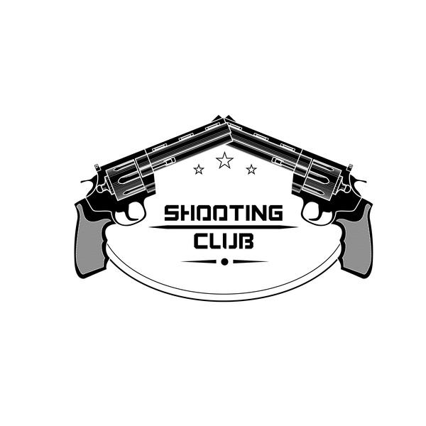 Shooting clijb logo design vector 02