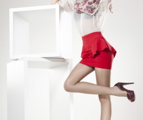 Short skirt stockings beauty HD picture