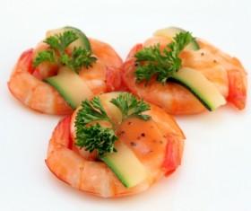 Shrimp dishes Stock Photo