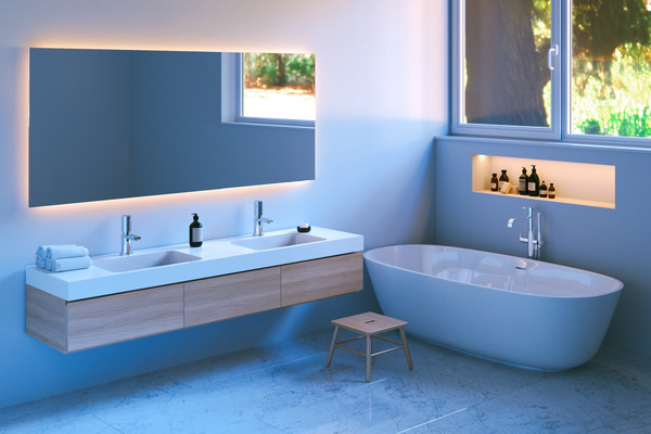 Simple And Elegant Bathroom Decoration Hd Picture 01 Interiors Stock Photo Free Download