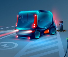Smart bus concept design vector 02