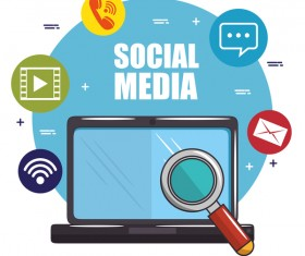 Social media with network vectors template 05