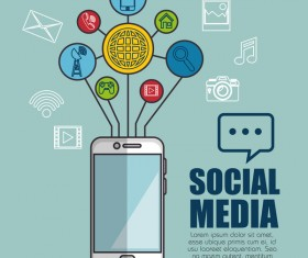 Social media with network vectors template 06