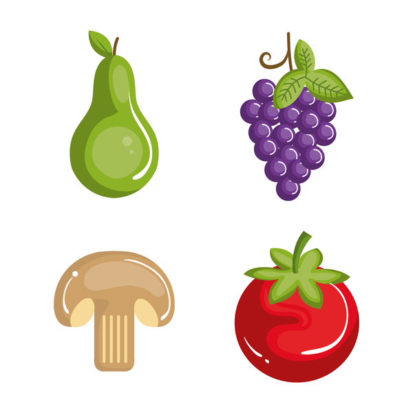 Sorts of fruit and vegetables vector 02