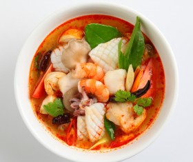 Spicy seafood soup HD picture