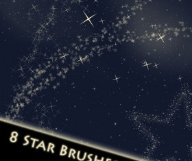 Star cloud Photoshop Brushes