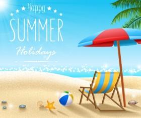 Summer holiday travel background design vectors