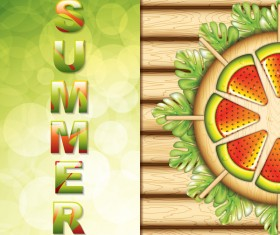 Summer holiday with food paradise vector background
