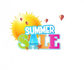 Summer sale vector creative design 01