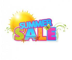 Summer sale vector creative design 03