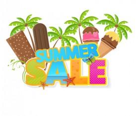 Summer sale vector creative design 04