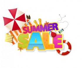 Summer sale vector creative design 05